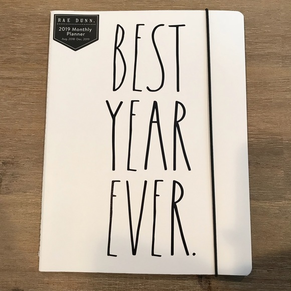 rae dunn accessories best year ever monthly planner poshmark